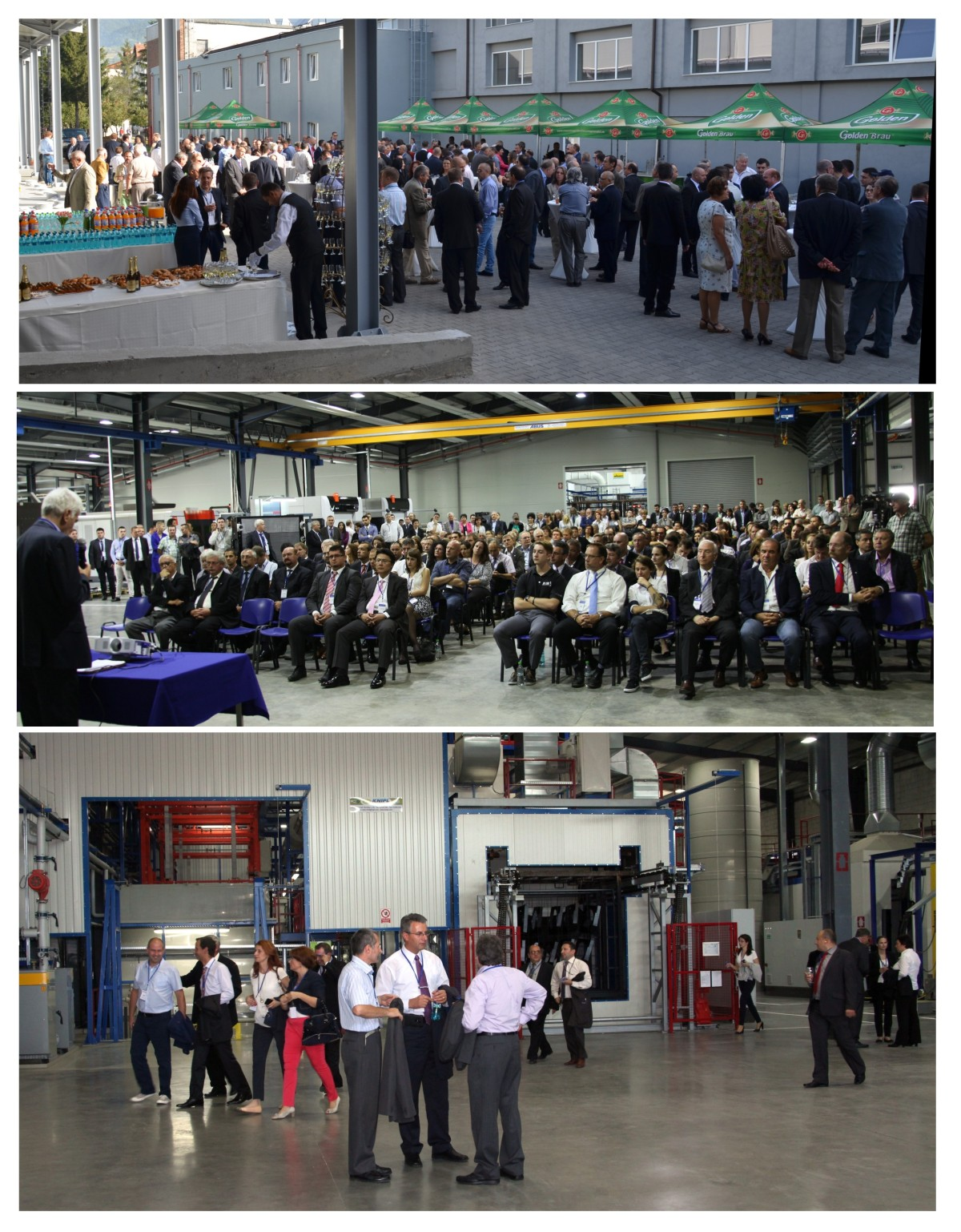 Inauguration of production hall for the manufacturing of metallic structures